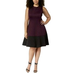 Calvin Klein Sleeveless Scuba Shift Dress